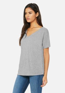 womens slouchy vneck tee athletic heather