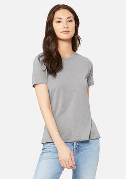womens triblend crew tee athletic grey