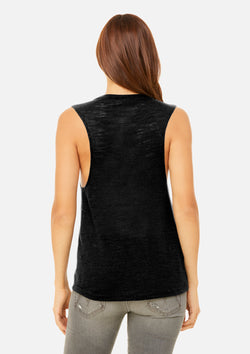 womens vintage slub scoop tank black