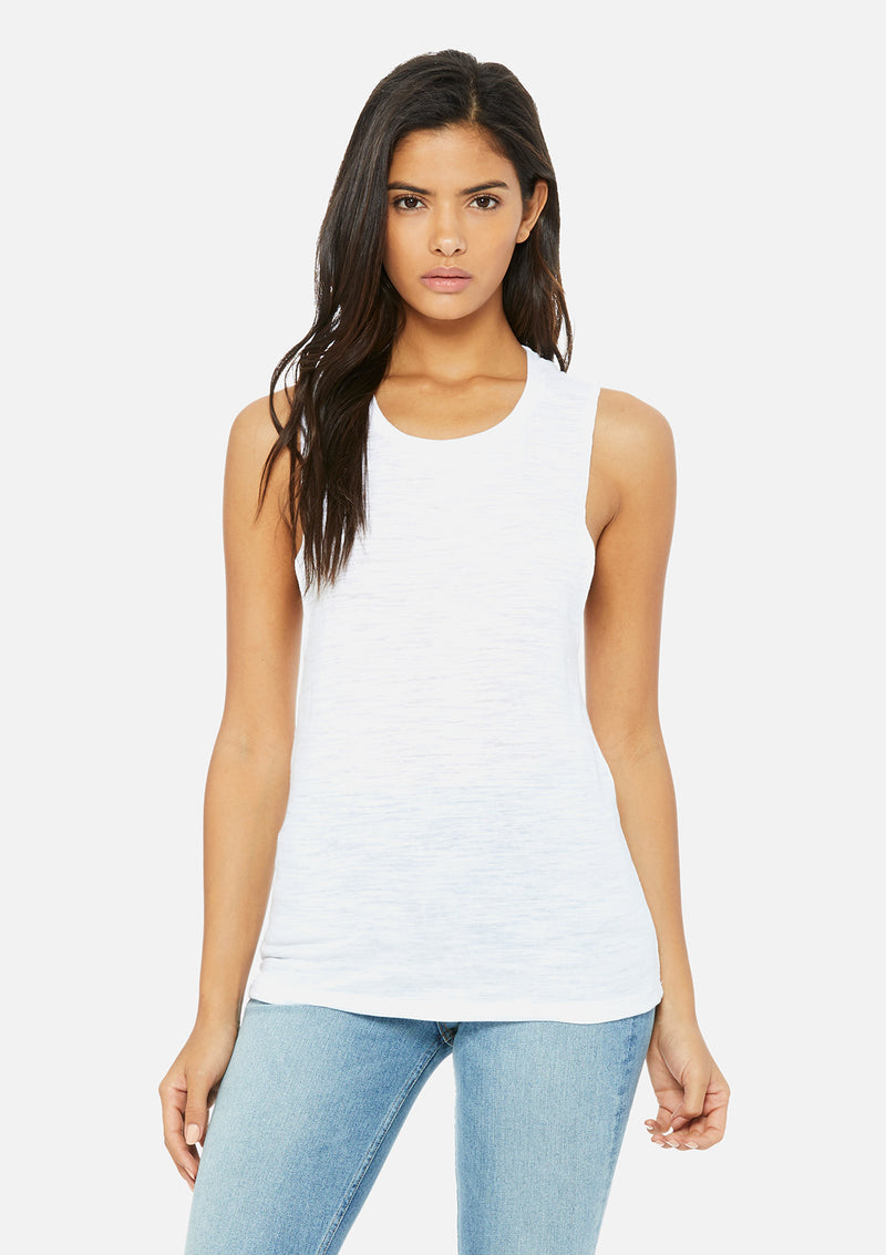 womens vintage slub scoop tank white