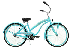 View Baby Blue Womens 26 Inch Beach Cruiser Bike BC-106P in detail