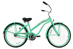 View Mint Green Womens 26 Inch Beach Cruiser Bike BC-106PL in detail