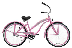 View Pink Womens 26 Inch Beach Cruiser Bike BC-106PL in detail