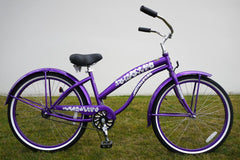 View Purple Womens 26 Inch Beach Cruiser Bike BC-106 in detail