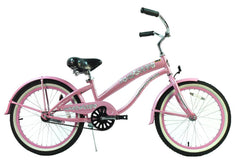 View Pink Girls 20 Inch Beach Cruiser Bike Single Speed BC-2006 in detail