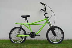 "View Lime Green with Black Wheels BMX 20"" Bike in detail"