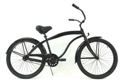 View Black Mens 26 inch Beach Cruiser Bike Single Speed Kruiser 1 A M in detail
