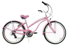 View Pink Aluminum Womens 26 inch Beach Cruiser Bike Seven Speed Kruiser 7 A L in detail