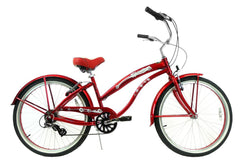 View Burgundy Aluminum Womens 26 inch Beach Cruiser Bike Seven Speed Kruiser 7 A L in detail