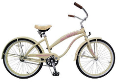 View Cream Vanilla 24 Inch Ladies Beach Cruiser Bike Single Speed BC-2406 in detail