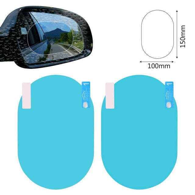 2PCS/Set Waterproof Car Rearview Mirror Protector