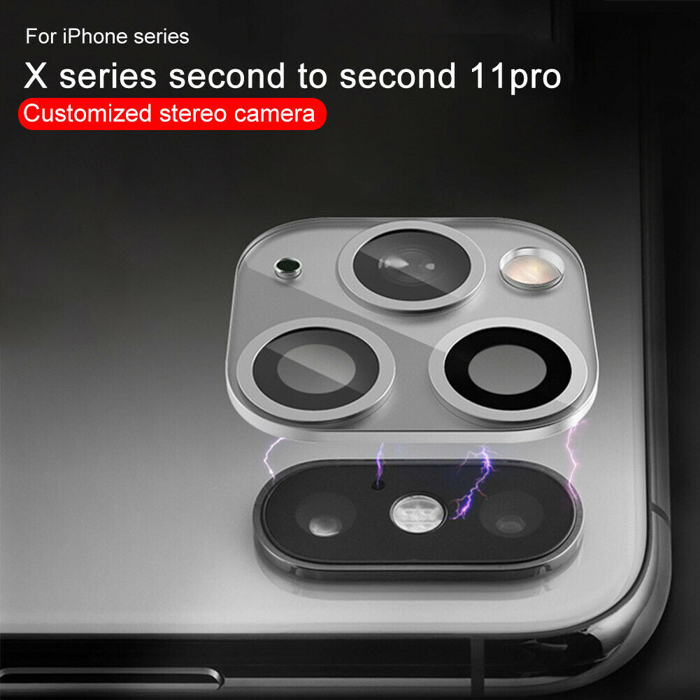 Camera Lens Protector For iPhone X XS MAX Convert To iPhone 11 Pro Max