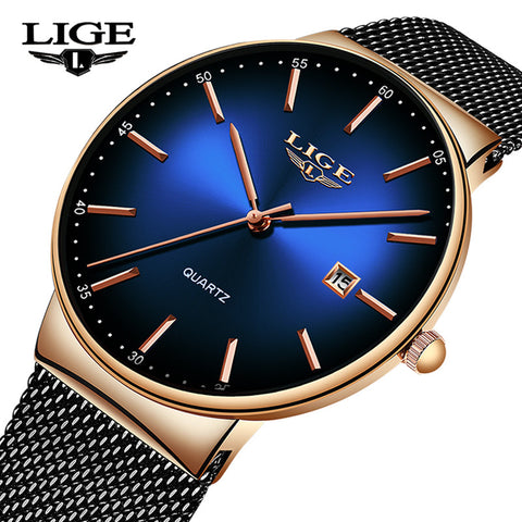 LIGE Simple™ - Mannen Horloges Super Dun 2019 Nieuw