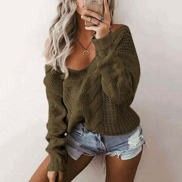 Cozy fall oversize chunky knit off the shoulder sweater