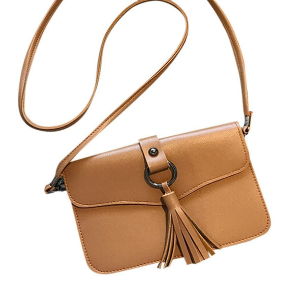 Xiniu women messenger bags mini crossbody Leather leather women bag small Tassel Shoulder Bag #5M