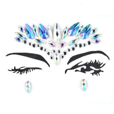Mermaid Face Gems Rhinestone Festival Jewels