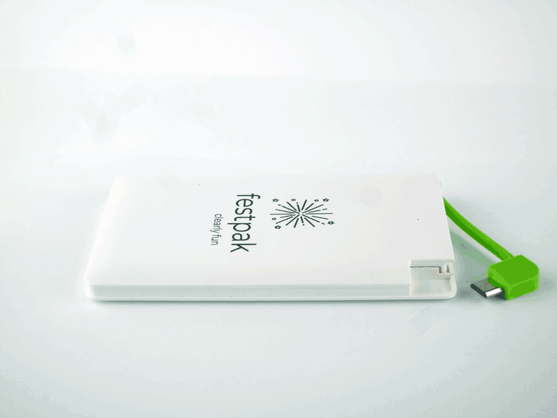Ultra-Slim Power Bank Portable Charger of Credit-card Size