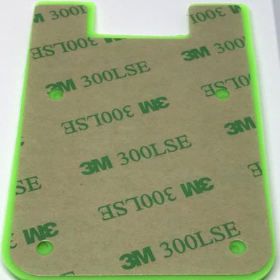 Temporary Silicone Phone Card Id Cash Wallet with 3M Adhesive Stick