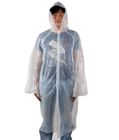 5 PACK Outdoor Travel Raincoat / Plastic Disposable Rain Poncho / Rainproof Cover