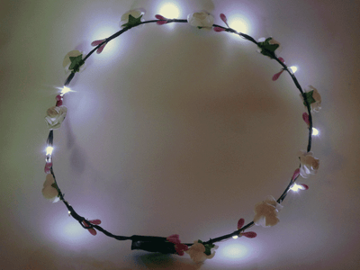 3 PACK LED Flower Crown, 12 LED Flower Wreath Headband Luminous