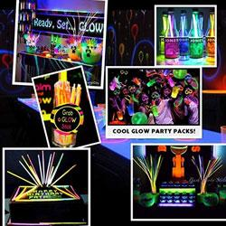 "PartySticks Glow Sticks Bulk  8"" Brand Premium Glow In The Dark Light Sticks"