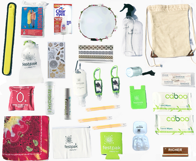 Large Box | 50 festival essentials | FREE SHIPPING