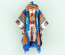 Load image into Gallery viewer, Handmade Alpaca Wool Poncho (Andean Traditional)