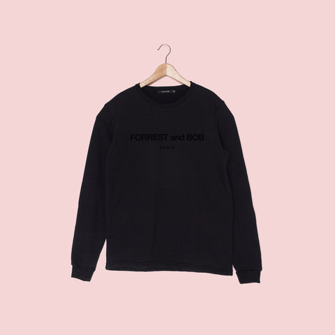 Oversized Monotone Logo - Sweatshirt - FORREST and BOB