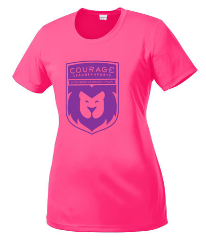 Courage League Womens Performance Tee