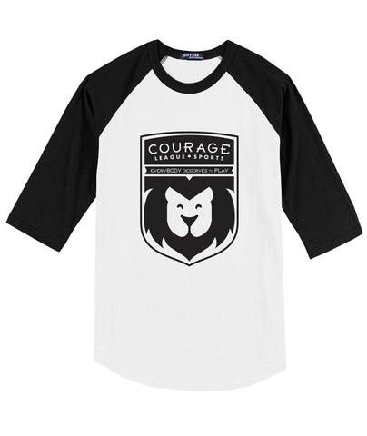Courage League Raglan Adult Tee