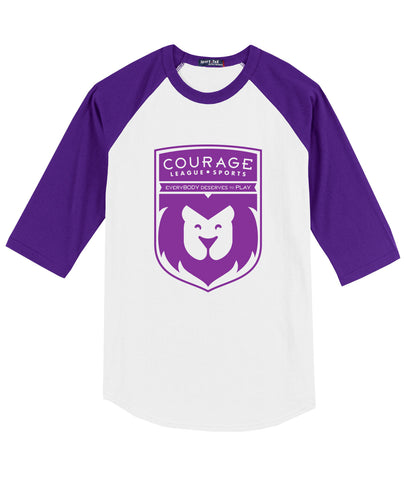 Courage League Youth Raglan Tee