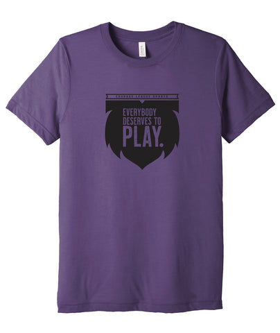 Everybody Deserves to Play Triblend Tee