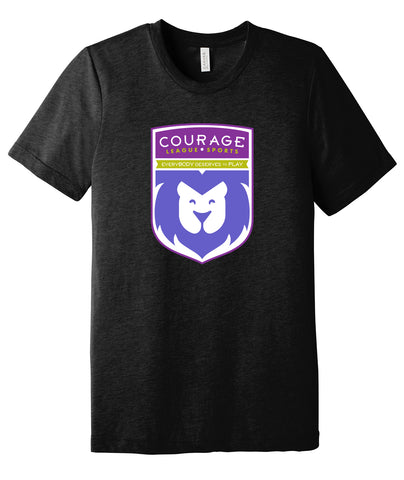 Courage League Shield Triblend Tee