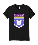 Courage League Shield Triblend Youth Tee