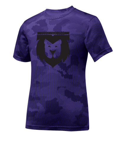 Lion Crest Camo Performance Youth Tee
