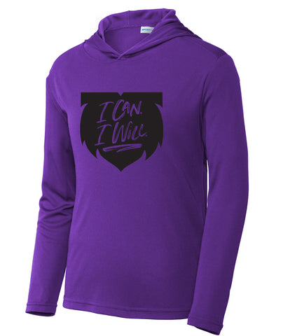 I Can. I Will. Long-Sleeve Youth Hoodie Tee
