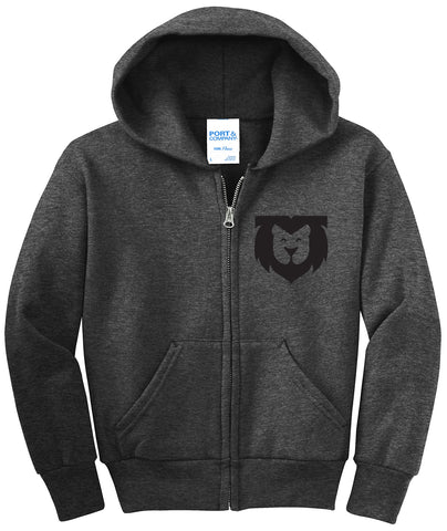 Lion Crest Fleece Full-Zip Hooded Sweatshirt