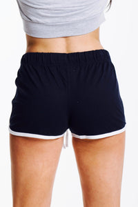 Adonis & Grace Retro Summer Shorts Navy