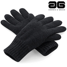 Load image into Gallery viewer, A & G Winter Thinsulate'TM' Gloves (3 Colours) Black