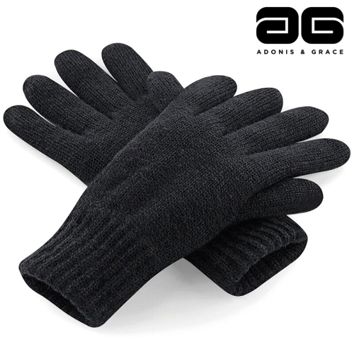 A & G Winter Thinsulate'TM' Gloves (3 Colours) Black