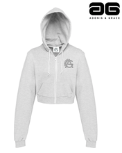Load image into Gallery viewer, Adonis & Grace Cropped Hoody Grey