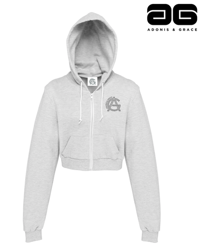 Adonis & Grace Cropped Hoody Grey