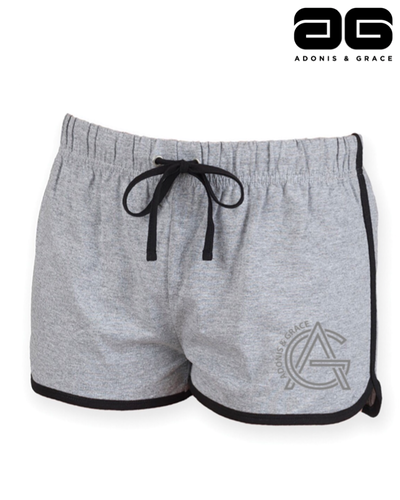 Adonis & Grace Retro Summer Shorts Grey