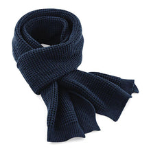 Load image into Gallery viewer, Adonis & Grace Classic Waffle Knit Scarf Black - BrandClearance