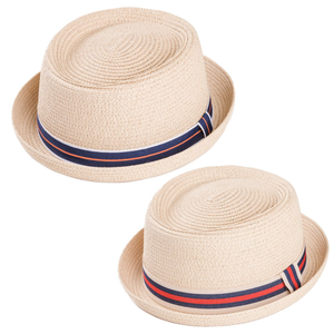 Adonis & Grace Unisex Pork Pie Hat with Ribbon - BrandClearance