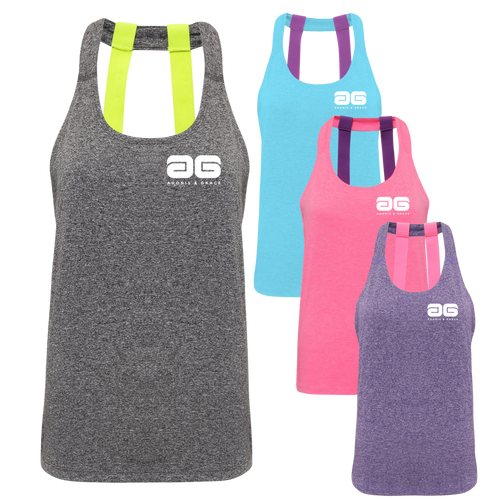 Adonis & Grace Ladies Double Strap Training Yoga Vest