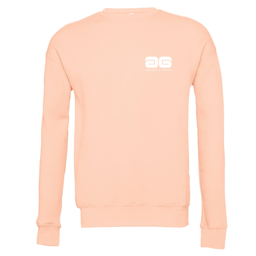 Adonis & Grace Unisex Drop Shoulder Fleece Peach