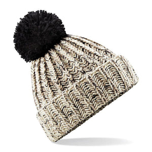 Adonis & Grace Twisted Pom Pom Winter Beanie Oatmeal - BrandClearance