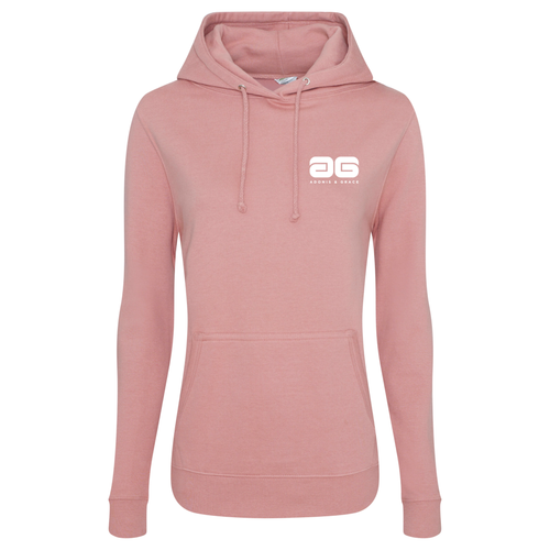 Adonis & Grace Original Girlie College Hoody Dusty Pink