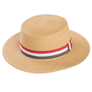 Adonis & Grace Luxury Ladies Straw Boater Hat - BrandClearance